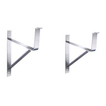 Whitehaus Stainless Steel Large Wall Mount Support Brackets