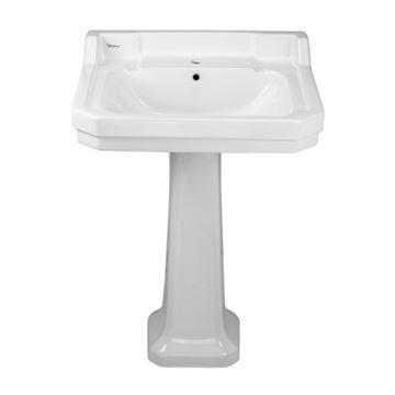 Whitehaus Traditional China Bathroom Pedestal Sink