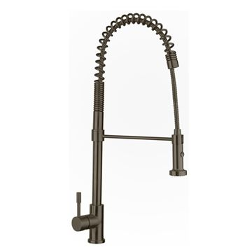 Whitehaus Waterhaus Commercial Single Hole Kitchen Faucet With Pull Down Sprayer
