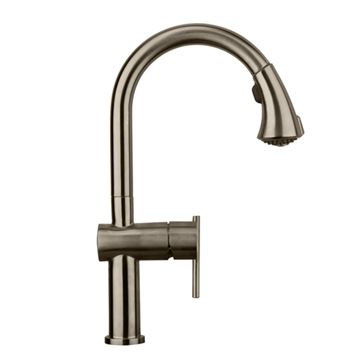 Whitehaus Waterhaus Gooseneck Kitchen Faucet With Pull Down Sprayer