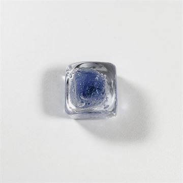 Classic Hardware Blue Glass Cube Knob 400006