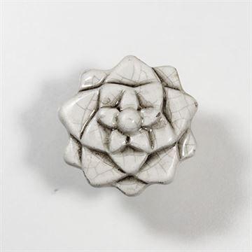 Classic Hardware Crackle Ceramic Lotus Knob 400019.18