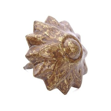 Old Gold Finish Floral Tack