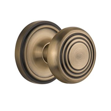 Nostalgic Warehouse Classic Rosette Door Set with Deco Knobs