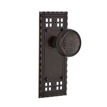 Nostalgic Warehouse Craftsman Plate Door Set With Craftsman Knobs