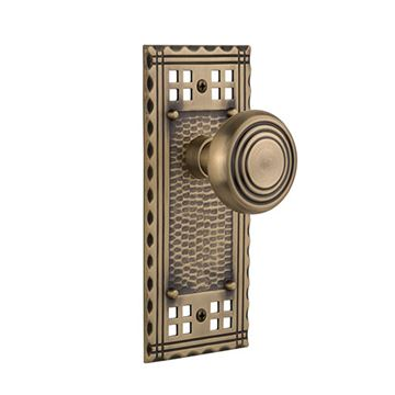 Nostalgic Warehouse Craftsman Plate Door Set with Deco Knobs
