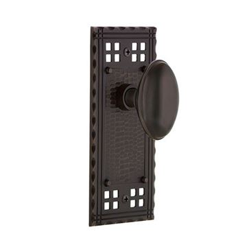 Nostalgic Warehouse Craftsman Plate Door Set with Homestead Knobs