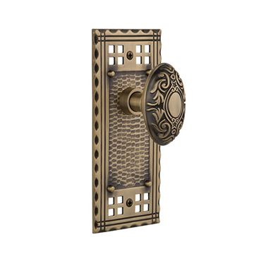 Nostalgic Warehouse Craftsman Plate Door Set with Victorian Knobs