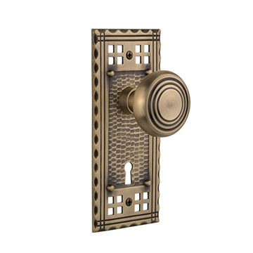 Nostalgic Warehouse Craftsman Interior Mortise Door Set - Deco Knobs