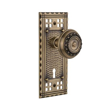 Nostalgic Warehouse Craftsman Interior Mortise Door Set With Meadows Knobs