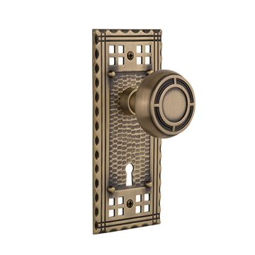 Nostalgic Warehouse Craftsman Interior Mortise Door Set With Mission Knobs