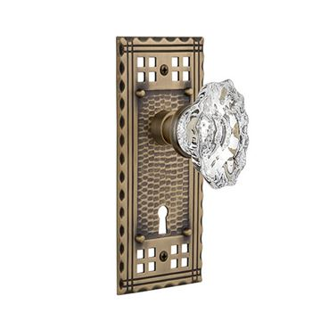 Nostalgic Warehouse Craftsman Keyhole Door Set With Chateau Knobs