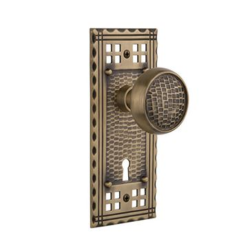 Nostalgic Warehouse Craftsman Keyhole Door Set With Craftsman Knobs