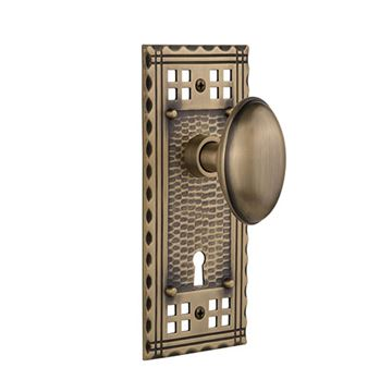 Nostalgic Warehouse Craftsman Plate With Keyhole Door Set With Homestead Knobs