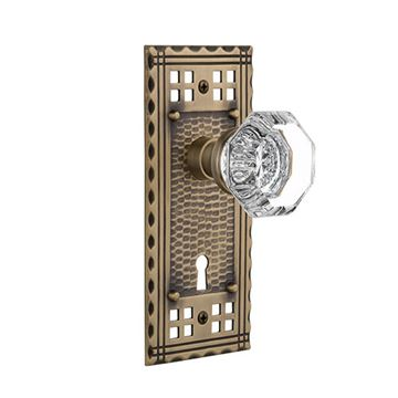 Nostalgic Warehouse Craftsman Keyhole Door Set With Waldorf Knobs