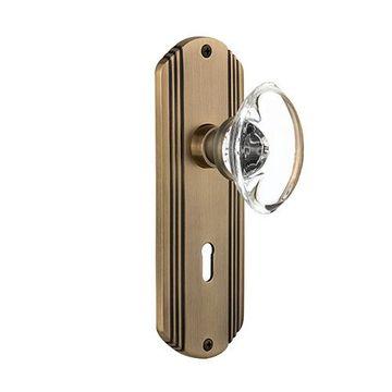 Nostalgic Warehouse Deco Keyhole Door Set - Oval Crystal