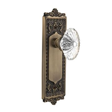 Nostalgic Warehouse Egg & Dart Door Set - Oval Flute Crystal