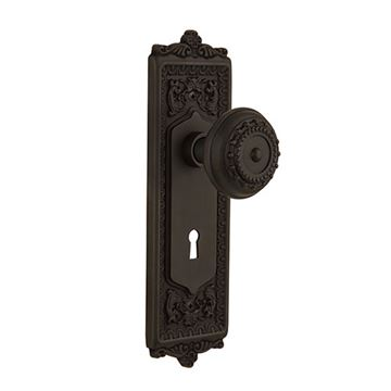 Nostalgic Warehouse Egg & Dart Interior Mortise Door Set - Meadows
