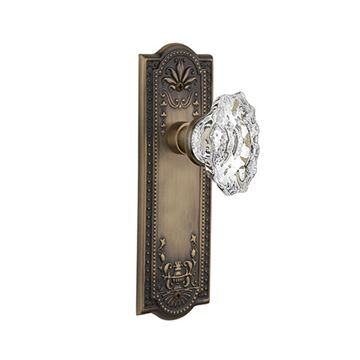 Nostalgic Warehouse Meadows Plate Door Set with Chateau Knobs