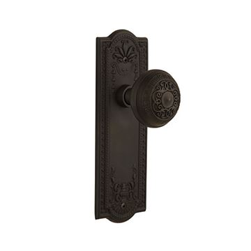 Nostalgic Warehouse Meadows Plate Door Set with Egg & Dart Knobs