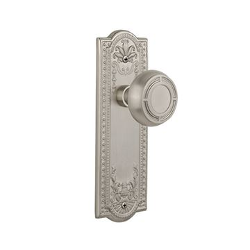 Nostalgic Warehouse Meadows Plate Door Set With Mission Knobs