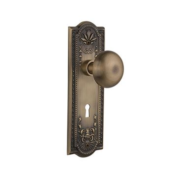 Nostalgic Warehouse Meadows Keyhole Door Set With New York Knobs