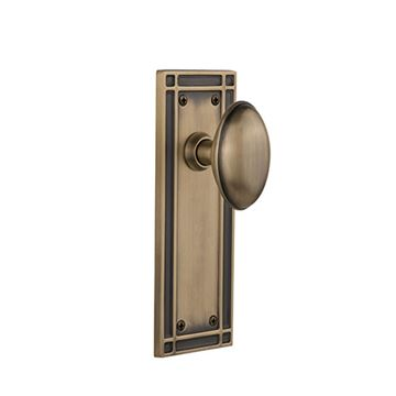 Nostalgic Warehouse Mission Plate Door Set with Homestead Knobs