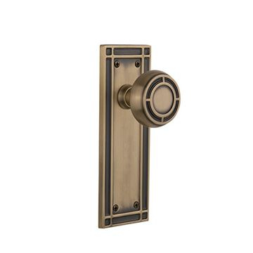 Nostalgic Warehouse Mission Plate Door Set with Mission Knobs