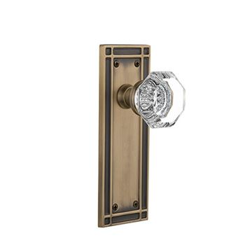 Nostalgic Warehouse Mission Plate Door Set with Waldorf Knobs