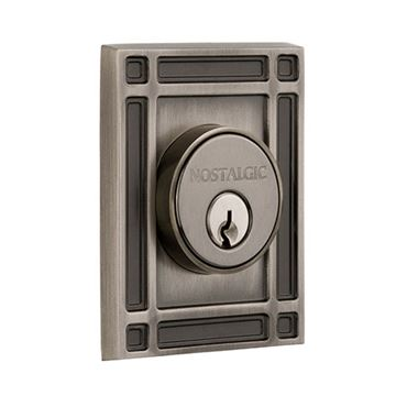 Nostalgic Warehouse Mission Plate Double Cylinder Deadbolt