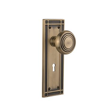 Nostalgic Warehouse Mission Interior Mortise Door Set With Deco Knobs