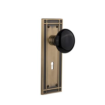 Nostalgic Warehouse Mission Keyhole Door Set - Black Porcelain