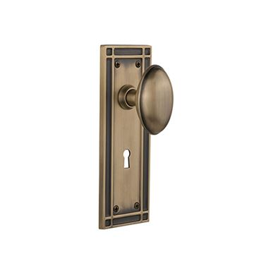 Nostalgic Warehouse Mission Keyhole Door Set With Homestead Knobs
