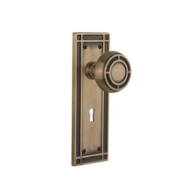 Nostalgic Warehouse Mission Keyhole Door Set With Mission Knobs