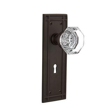 Nostalgic Warehouse Mission Keyhole Door Set With Waldorf Knobs