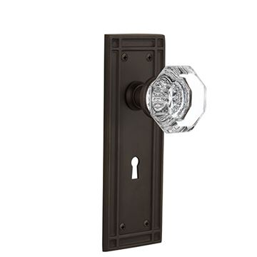 Nostalgic Warehouse Mission Keyhole Door Set With Waldorf Knobs