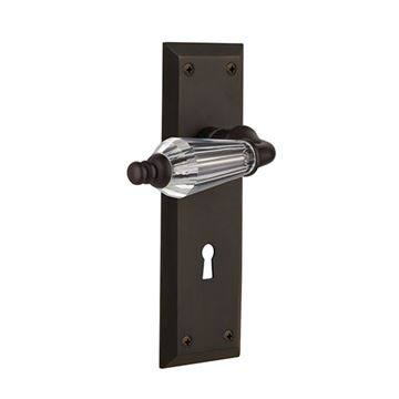 Nostalgic Warehouse New York Keyhole Door Set With Parlor Levers