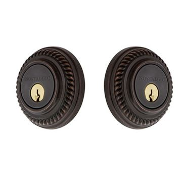 Nostalgic Warehouse Rope Rosette Double Cylinder Deadbolt