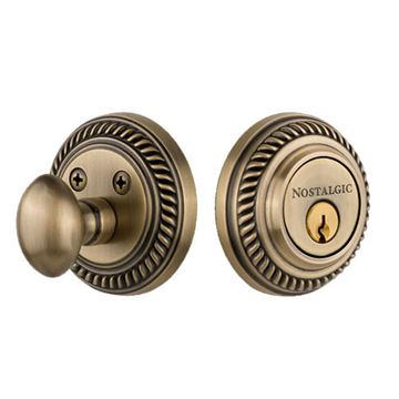 Nostalgic Warehouse Rope Rosette Single Cylinder Deadbolt