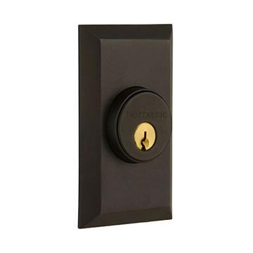 Nostalgic Warehouse Studio Plate Double Cylinder Deadbolt