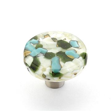 Schaub Ice Blue Pebble Round Cabinet Knob
