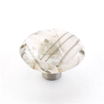 Schaub Ice Gray Confetti Round Cabinet Knob