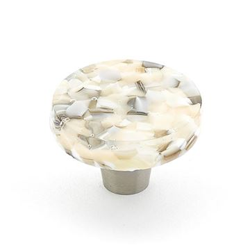 Schaub Ice Sable Pebble Round Cabinet Knob