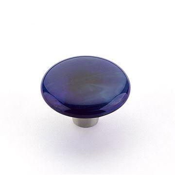 Schaub Ice Sapphire Silk Round Cabinet Knob