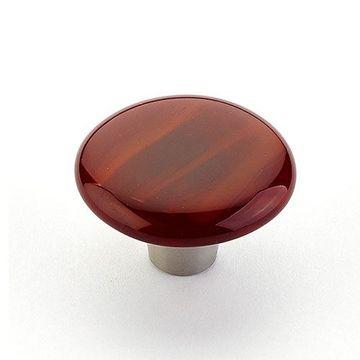 Schaub Ice Scarlet Silk Round Cabinet Knob
