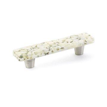 Schaub Ice White Lace Pebble Cabinet Pull