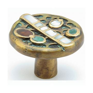 Schaub Symphony Heirloom Jade & Mother of Pearl Cabinet Knob