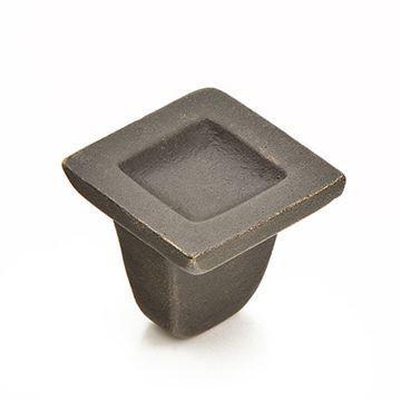 Schaub Vinci Indented Square Cabinet Knob