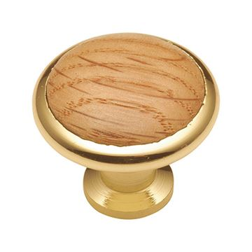Hickory Hardware Woodgrain Button Cabinet Knob