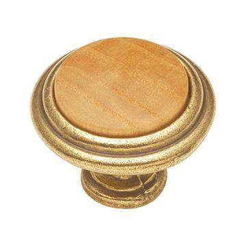 Hickory Hardware Woodgrain Round Cabinet Knob